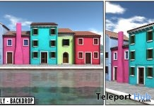 New Release: Burano Italy Backdrop by Paparazzi @ Shiny Shabby April 2018 - Teleport Hub - teleporthub.com