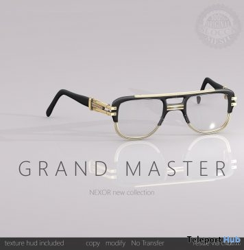 Grand Master Shades April 2018 Group Gift by NEXOR - Teleport Hub - teleporthub.com