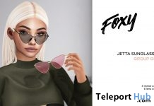 Jetta Sunglasses April 2018 Group Gift by Foxy - Teleport Hub - teleporthub.com