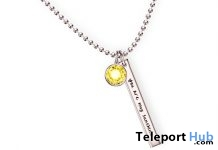 Sunshine Necklace April 2018 Group Gift by Cae - Teleport Hub - teleporthub.com