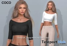 Scoop Neck Crop Top 5 Colors April 2018 Group Gift by COCO Designs - Teleport Hub - teleporthub.com