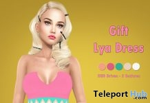 Lya Dress Fatpack April 2018 Group Gift by Hilly Haalan - Teleport Hub - teleporthub.com