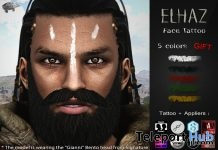 Elhaz Face Tattoo Appliers Group Gift by Mad' - Teleport Hub - teleporthub.com