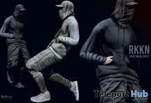 New Release: Streetwear Hoodie, Leggings, Sneakers, Cap, & Facemask by RKKN @ Shiny Shabby April 2018 - Teleport Hub - teleporthub.com