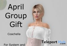 Coachella Blouse April 2018 Group Gift by Ever An' Angel - Teleport Hub - teleporthub.com