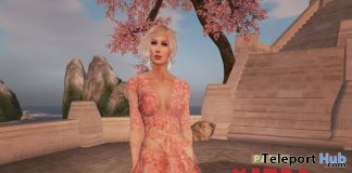 Cherry Blossom Gown With Appliers Teleport Hub Group Gift by Paris Metro Couture - Teleport Hub - teleporthub.com