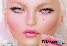 Tattoo Jelly Lip Gloss For Lelutka Head 1L Promo Gift by Pink Acid - Teleport Hub - teleporthub.com