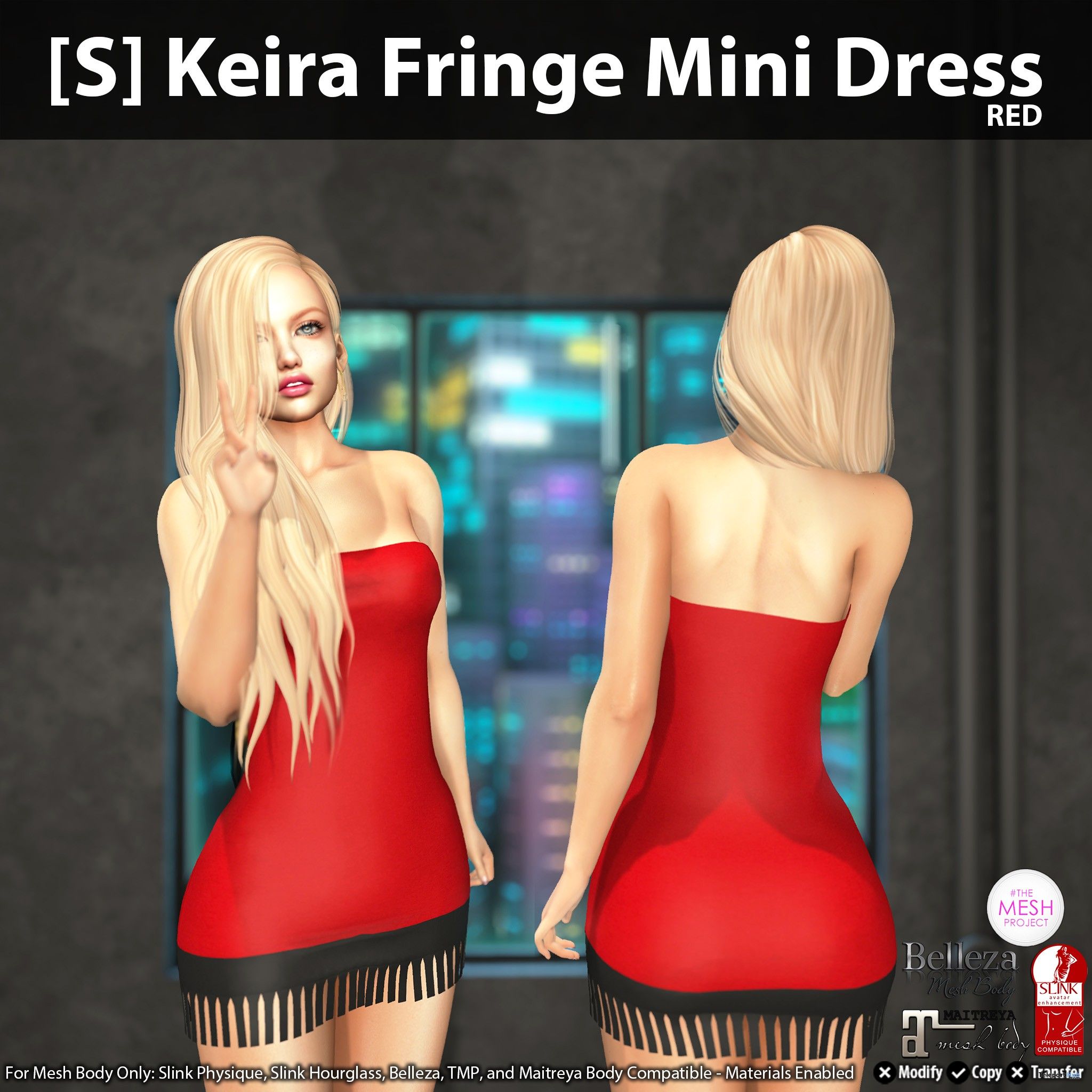 New Release: [S] Keira Fringe Mini Dress by [satus Inc] - Teleport Hub - teleporthub.com