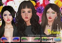 PETUNIA Eyeshadow Palette Applier For Catwa Head 15L Promo by TEEPA - Teleport Hub - teleporthub.com