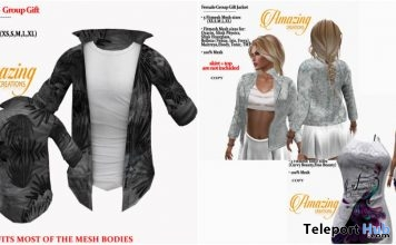 Male Shirt, Female Jacket, & Dress April 2018 Group Gift by AmAzIng CrEaTiOnS - Teleport Hub - teleporthub.com