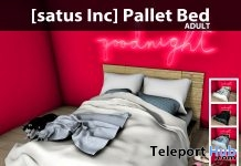 New Release: Pallet Bed by [satus Inc] - Teleport Hub - teleporthub.com