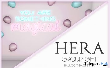Balloon Backdrop May 2018 Group Gift by HERA - Teleport Hub - teleporthub.com