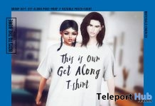 Get Along Couple Pose & T-Shirt Prop May 2018 Group Gift by BOYS TO THE BONE - Teleport Hub - teleporthub.com
