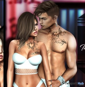 Queen & King Tattoo May 2018 Group Gift by INKer - Teleport Hub - teleporthub.com