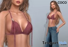 Suede Bra Top Wine May 2018 Group Gift by COCO Designs - Teleport Hub - teleporthub.com