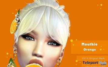 Orange Mouthie Up! Event April 2018 Round Gift by Joplino - Teleport Hub - teleporthub.com