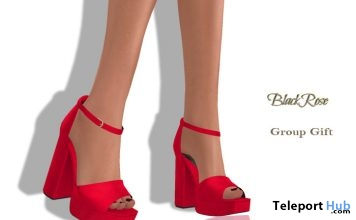 Jane Shoes Red May 2018 Group Gift by BlackRose - Teleport Hub - teleporthub.com