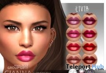 Gianna Lipstick For Mesh Heads May 2018 Group Gift by LIVIA - Teleport Hub - teleporthub.com
