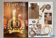 Tempura Hoop Earrings Gold & Key Necklace Gold Unisex 10th Anniversary Group Gifts by MANDALA - Teleport Hub - teleporthub.com