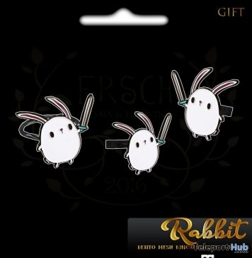 Rabbit Bento Rings & Earrings May 2018 Group Gift by ERSCH - Teleport Hub - teleporthub.com