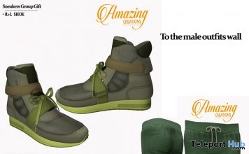 Sneakers & Male Rolled Up Track Pant May 2018 Group Gift by AmAzIng CrEaTiOnS - Teleport Hub - teleporthub.com