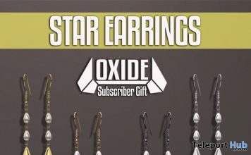 Star Earrings May 2018 Subscriber Gift by OXIDE - Teleport Hub - teleporthub.com