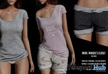 New Release: Maggie's Shorts & T-Shirts by RKKN @ Shiny Shabby May 2018 - Teleport Hub - teleporthub.com