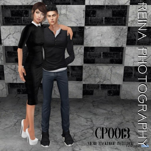 Couple Pose CP0013 & Backdrop May 2018 Gift by Reina Photography - Teleport Hub - teleporthub.com