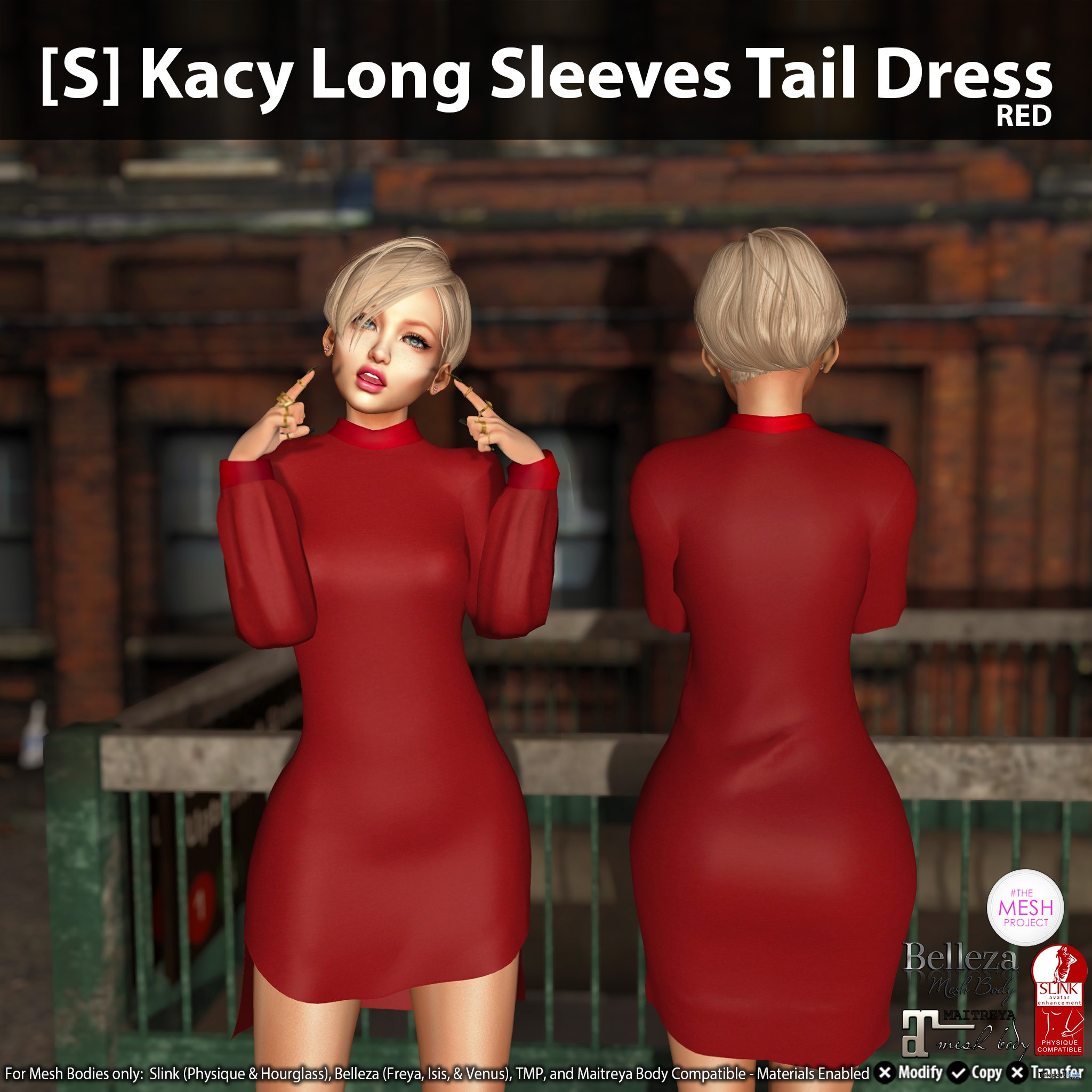 New Release: [S] Kacy Long Sleeves Tail Dress by [satus Inc] - Teleport Hub - teleporthub.com