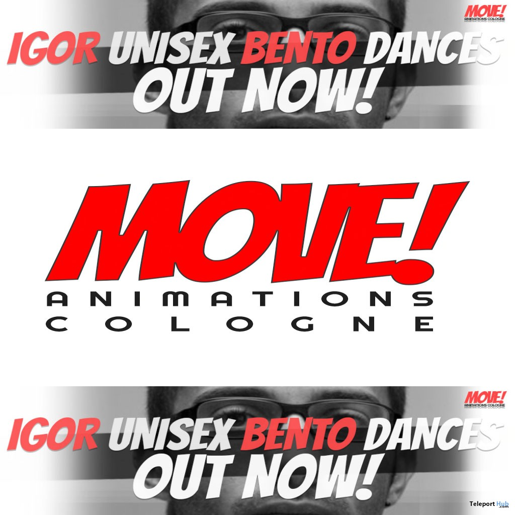 New Release: Igor Unisex Bento Dance Pack by MOVE! Animations Cologne - Teleport Hub - teleporthub.com