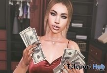 Baddie Bento Pose With Mesh Money Prop Gift by !R.O! - Teleport Hub - teleporthub.com
