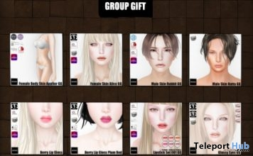 Several Skins & Makeup Appliers For Male & Female Group Gifts by (dot)xxx - Teleport Hub - teleporthub.com
