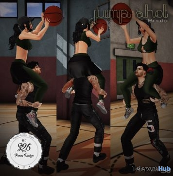 Jump Shot Couple Pose May 2018 Group Gift by S26 Pose Store - Teleport Hub - teleporthub.com