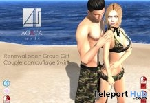 Camouflage Trunk & Bikini June 2018 Group Gift by AGATA mode - Teleport Hub - teleporthub.com
