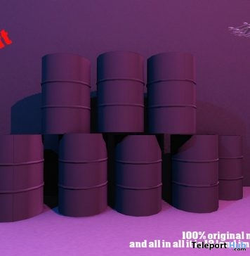 Barrels Backdrop 10L Promo by #CRANKED# - Teleport Hub - teleporthub.com