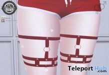 Red Cheryl Leg Straps June 2018 Group Gift by Ama. - Teleport Hub - teleporthub.com