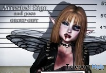 Arrested Sign & Pose June 2018 Group Gift by NeverWish - Teleport Hub - teleporthub.com