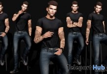 Pack of 5 Bento Male Poses June 2018 Group Gift by WRONG - Teleport Hub - teleporthub.com