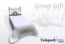 Wrought Iron Bed June 2018 Group Gift by PiCaZZo - Teleport Hub - teleporthub.com