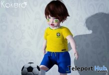 Soccer Kid Pose June 2018 Group Gift by Kokoro Poses - Teleport Hub - teleporthub.com