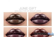 Lipsticks For Catwa Head June 2018 Group Gift by Lisa Walker Makeup - Teleport Hub - teleporthub.com