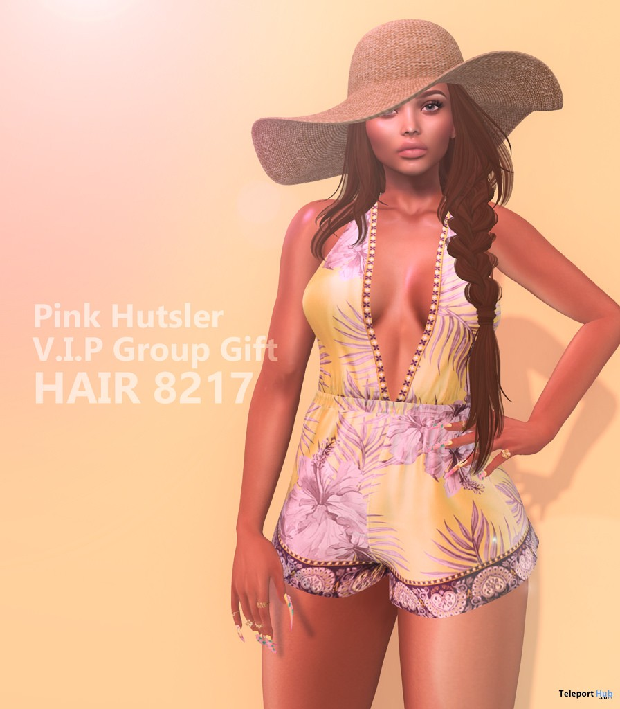 Hair 2817 July 2018 Group Gift by Pink Hustler - Teleport Hub - teleporthub.com
