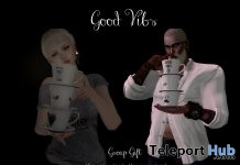 Good Vibe Unisex Bento Pose & Stack of Cups Prop June 2018 Group Gift by Andika - Teleport Hub - teleporthub.com