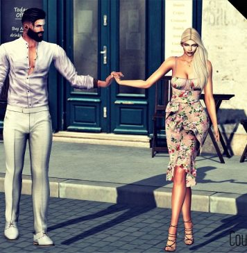 Couple Holding Hands Bento Pose Teleport Hub Group Gift by Ana Boutique - Teleport Hub - teleporthub.com