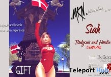 Denmark Bodysuit and Hoodie With Flag June 2018 Gift by MKN - Teleport Hub - teleporthub.com