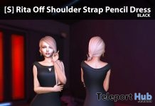 New Release: [S] Rita Off Shoulder Strap Pencil Dress by [satus Inc] - Teleport Hub - teleporthub.com