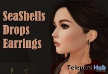 Seashells Drop Earrings June 2018 Group Gift by Third Moon Creations - Teleport Hub - teleporthub.com