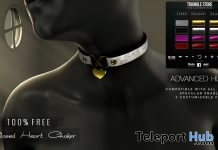 Closed Heart Choker June 2018 Gift by Triangle - Teleport Hub - teleporthub.com