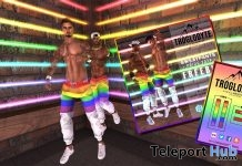Gay Pride Sweatpants June 2018 Gift by Troglodyte - Teleport Hub - teleporthub.com