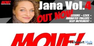 New Release: Jana Vol 4 Bento Dance Pack by MOVE! Animations Cologne - Teleport Hub - teleporthub.com